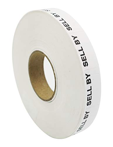 - Amram Price Marking Labels 1 Line, White/Black Sell by, 1 Sleeve of 17,000 Labels (16 Rolls, 1,063 Labels Per Roll), Includes 1 Replacement Ink Roller, Compatible w/Monarch 1110