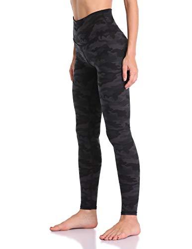 Colorfulkoala Women's High Waisted Pattern Leggings Full-Length Yoga Pants (XL, Deep Grey Camo)