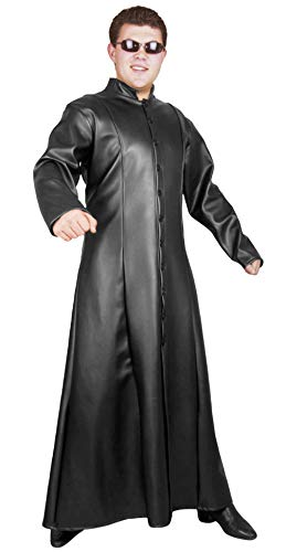Charades Unisex-Adult's Neon Ex Machina Jacket, black -