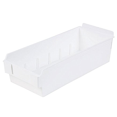 Retail White Shelfbox Style 300 measures 13.18''d x 5.51''w x 3.74''h by Shelfbox