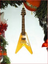 (Broadway Gifts Musical Instrument Ornament - 4 Electric V Guitar)