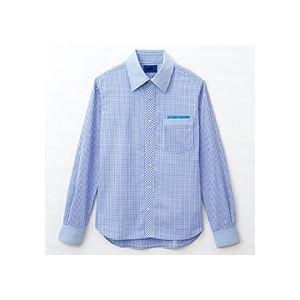 (まとめ) セロリー 大柄ギンガムチェック長袖シャツ LLサイズ サックス S-63412-LL 1枚 (×2セット)   B077JLZPT8