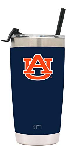 (Simple Modern Auburn University 20oz Cruiser Tumbler with Straw & Flip Lid - Vacuum Insulated Stainless Steel Travel Mug - Tailgating Cup College Flask)