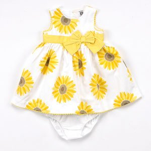 b58f07a2d3cc5 Image Unavailable. Image not available for. Color: Toddler Girls Sunflower  Dress