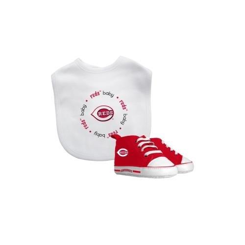 Baby Fanatic MLB Cincinnati Reds Unisex CIR30002Bib & Prewalker Gift Set - Cincinnati Reds, See Description, See Description