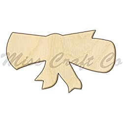 Diploma Wood Shape Cutout, Wood Craft Shape, Unfinished Wood, DIY Project. All Sizes Available, Small to Big. Made in the USA. 11 X 6.3 INCHES