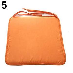 Risxffp - Cuscino per sedia da giardino, cuscino per esterni, patio, con fiocco Orange ★ Chunky Foam Comfortable Outdoor… 1 spesavip
