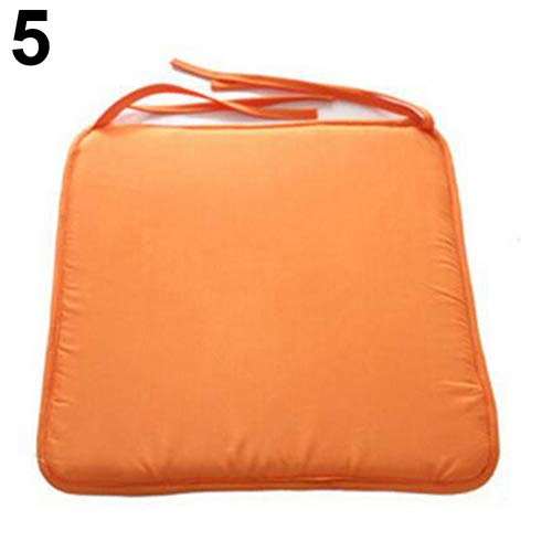 Maserfaliw Seat Cushion, Removable Seat Pad Dining Garden Outdoor Patio Pillow Solid Tie On Chair Cushion - Orange ¡ï Chunky Foam Comfortable Outdoor Patio£¬Essential for Home Life.