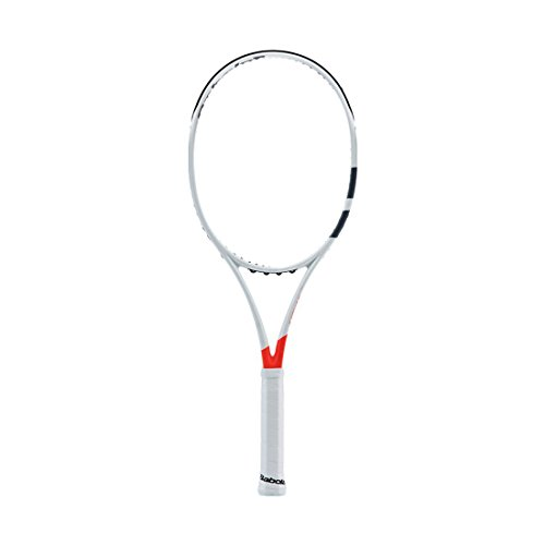 Babolat 2017 Pure Strike 16x19 Silver/Orange Tennis Racquet (4 1/2
