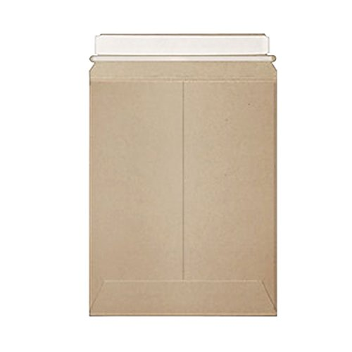 Stayflats Plus Mailers | Rigid Shipping Envelopes | Tamper Evident Security With Peel & Seal Pressure Sensitive Closure | Built-In Corner Protection| Kraft | 50 Per Case | 18