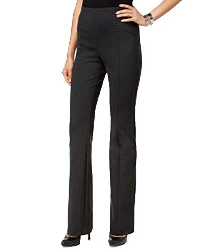 (I.N.C. International Concepts Women's Petite High-Waist Bootcut Pants (Dark Heather Grey, 16P))