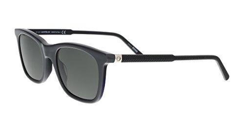 Montblanc MB607 20A Dark Grey Rectangular Sunglasses for ()