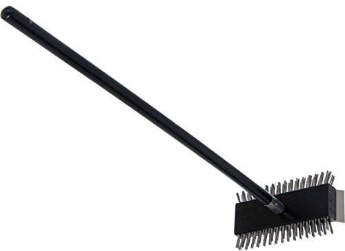 Carlisle 4029000 Broiler Master Grill Brush, Stainless Steel Bristles, 30.5'' Length, Hardwood Brush and Handle, Black by Carlisle (Image #3)