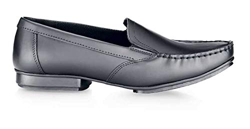 Non Slip Shoes for Crews 3616-36//3//5.5 JENNI Womens Leather Slip On Shoes 3 UK BLACK EN safety certified