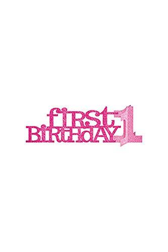 Amscan Happy 1st Birthday Glitter Centerpiece - (1st Birthday Centerpieces)