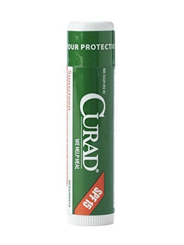 Curad Petroleum Free Lip Balm with SPF 15 - Pack of 24 by Curad