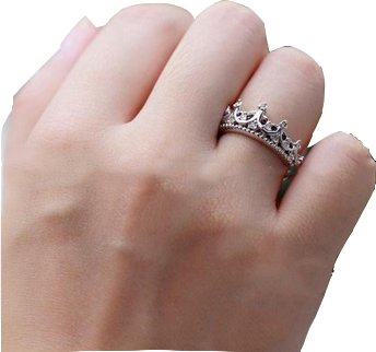 mycaseroom fashion womens queen crown wedding ring size 81 - Crown Wedding Ring