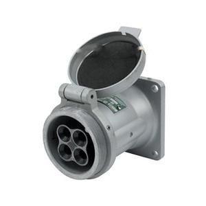 Appleton ADR6034 Powertite® Grounding Style 2 Polarized Receptacle 60 Amp, 600 Volt AC/250 Volt DC, 4-Pole, 3-Wire, Pressure Wire Terminal,