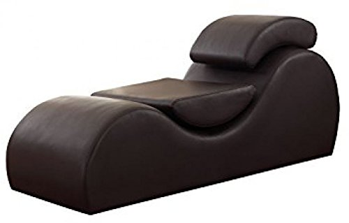 Versa Chair Living Room Multi-Functional Yoga Gaming Relaxation Meditation Outdoor Indoor TV Exercise Stretch Chaise Chair Reduce Stress Increase Intimacy Faux Leather Leatherette in Chocolate Brown by Versa-Chair
