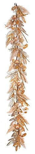 - 6 Foot Metallic Mixed Bay Leaf - Gold/Silver Autograph Foliages