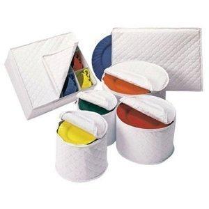 RHW - Tabletop Quilted Vinyl Dinnerware Storage Set (6 Piece) (4-Pack)