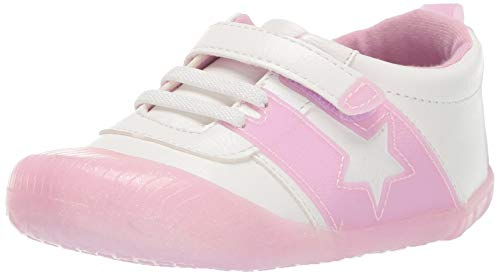 Ro + Me by Robeez Girls' Alyssa Athletic Sneaker Crib Shoe, Pink Sparkle, 18-24 - Athletic Shoes Robeez
