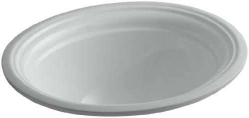 4in Undermount Bath Sink - KOHLER K-2350-95 Devonshire Undercounter Bathroom Sink, Ice Grey