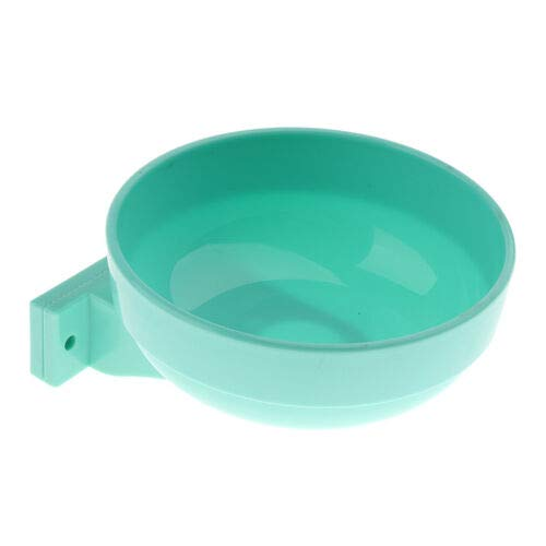 FidgetGear Crate Dog Bowl Removable Pet Bowl Hanging Cage Coop Cup Water Food Feeder bluee