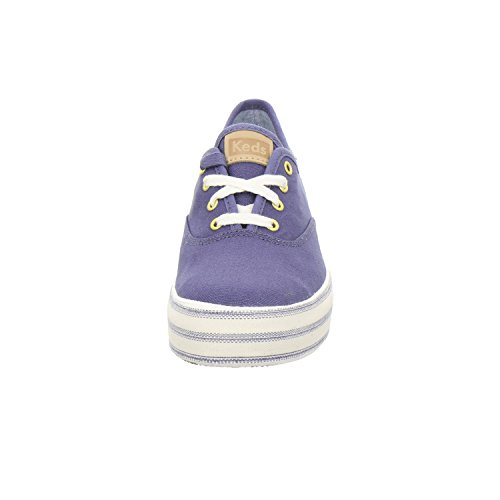 Keds Damen TPL Kick Metallic Linen Rose Gold Sneaker Blau