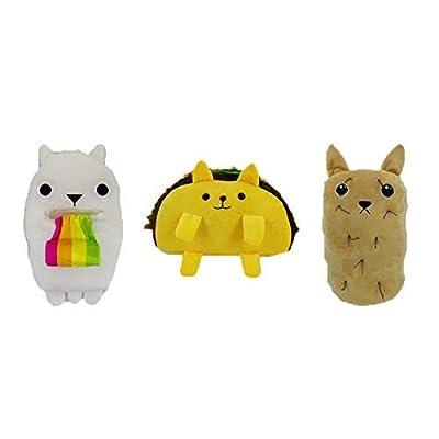 "Exploding Kittens 6"" Plush Set Tacocat Ralphing Rainbow Hairy Potato: Toys & Games"