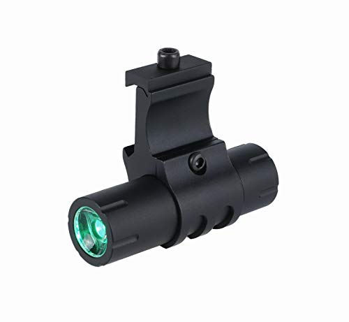 Monstrum 100 Lumens Green Light LED Ultra-Compact Flashlight with Offset Rail Mount and Detachable Remote Pressure Switch