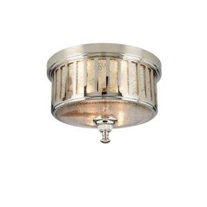 "Berzon 2 Light Ceiling English 7""x13""x13"" Polsh Nickel Fn"