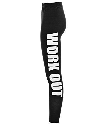ClothesFactor21 - Legging de sport pour femme - M/L (40-42), Noir