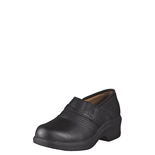 Ariat Women's Safety Toe Clog, Black, 7.5 C - Wide