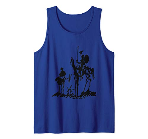 Don Quixote painting drawing Picasso shirt Tank - Quixote Don Paintings