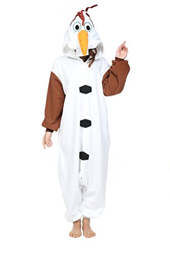 NEWCOSPLAY Halloween Unisex Adult Pajamas Cosplay Costumes (M, Olaf)]()