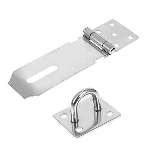 upain Padlock Hasp Staple Mini Door Clasp Heavy Duty Door Lock Gate Latch with Screws 4 inches for Door Window Cabinet…