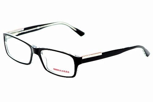 6335c503308 Image Unavailable. Image not available for. Colour  Prada Linea Rossa Men s  11a Top Black   Crystal Frame Plastic Eyeglasses ...