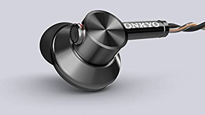 ONKYO canal type earphone semi-open / hi-res sound source corresponding / control with microphone E700MB (Black)