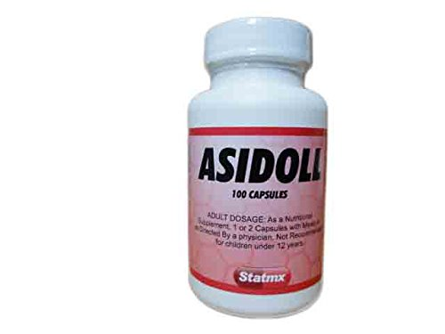 Asidol Enzymes (Pancreatin, Pepsin, Betaine HCL)100 Vegetable Capsules
