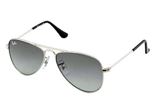 Ray-Ban Jr. Kids Aviator Kids Sunglasses (RJ9506) Silver Shiny/Grey Metal - Non-Polarized - - Junior Ray Ban Aviators