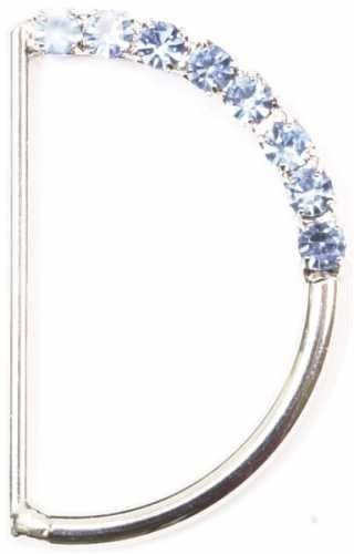 Dritz(R) Jeweled D-Rings - Light - Jeweled D-ring