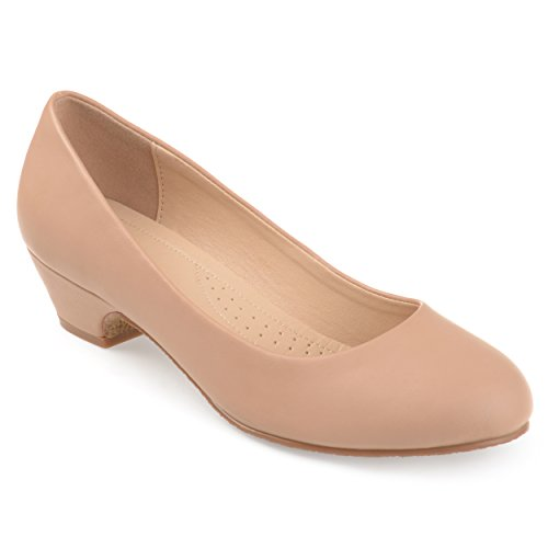 - Journee Collection Womens Comfort-Sole Classic Heels Nude, 12 Regular US
