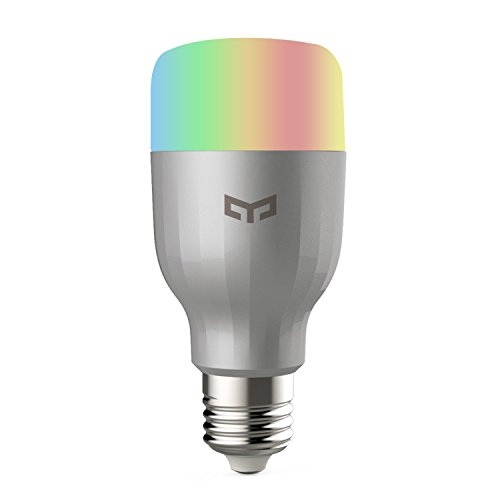 Smart Light Bulb, Xiaomi Yeelight WiFi LED Bulb Remote Control Dimmable RGB Color Changing 60W Equivalent E26 110V, Compatible w/Alexa No Hub Needed