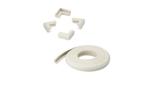 Color Blanco 5004/ /2/acolchado protector de bordes + 4/eckensch/ützer 2/m rollo
