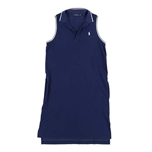 Polo Ralph Lauren Womens Sleeveless Mesh Dress (Medium, Navy)