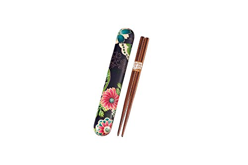 Chopstick case set paradise purple 53 644 18.0 the bonded cloth HAKOYA (japan import)