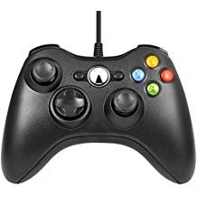 Xbox 360 Game Controller, Unionlike USB Wired Gamepad, Joypad with Shoulders Buttons, for Microsoft Xbox 360/Xbox 360 Slim/PC Windows 7 (White) ()