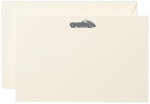 Engraved Card (Crane & Co. Engraved Art Deco Racer Correspondence Card (CC3506))