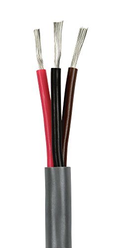 (14/3 AWG Triplex Marine Bilge Pump Wire Cable - Red/Black/Brown - 25 Ft. - Made in USA)